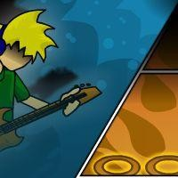 Gioco di musica stile Guitar Hero Coolio beat 2