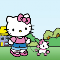 Gioco del solitario di carte Hello Kitty Freecell