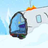 Avventura grafica fuga dalla neve dall'incidente aereo
