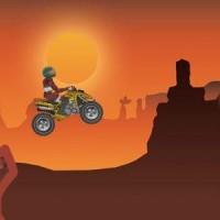 Gioco di corse del Quad nel canyon