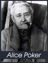 Alice Poker, all'età di 75 anni