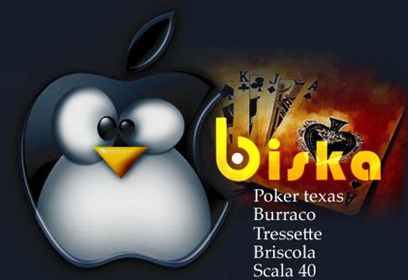 Il burraco e il poker texas hold'em per Apple Mac e Linux.