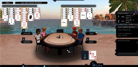 Nuovo sfondo per sale da poker e burraco n spiaggia.