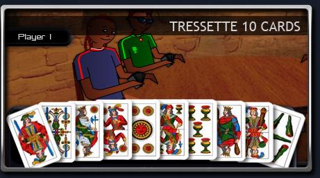 Tressette : 10 cards per player.