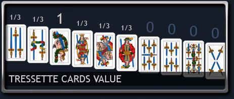 Tressette Cards Value